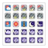 set versionväder för 2 symbol Arkivfoto