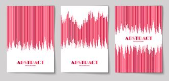 Set of vertical abstract backgrounds 13. Set of abstract vertical background with striped pattern in pink colors. Design template of flyer, banner, cover, poster royalty free illustration