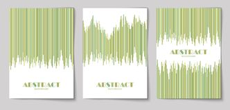 Set of vertical abstract backgrounds 12. Set of abstract vertical background with striped pattern in olive colors. Design template of flyer, banner, cover vector illustration