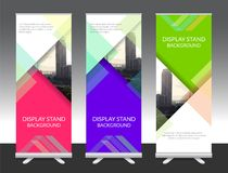 Set of vertical abstract display banner stand or roll up design Royalty Free Stock Photos