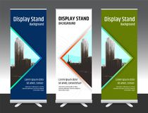 Set of vertical abstract display banner stand or roll up design Stock Photo