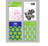 Set of vertical artistic universal cards,  flowers, design for poster, card, invitation, placard, brochure, flyer Stock Image