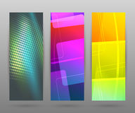Set vertical banner background template layout flyer47 Royalty Free Stock Images