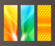 Set vertical banner background template layout flyer56 Stock Photography