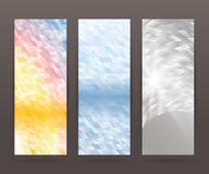 Set vertical banner background template layout flyer73 Royalty Free Stock Photo