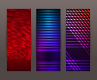 Set vertical banner background template layout flyer74 Royalty Free Stock Photography