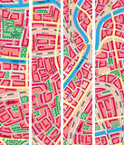 Set vertical banner of map unknown city. Stock Photo