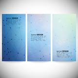 Set of vertical banners. Abstract blue background Royalty Free Stock Photo