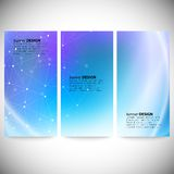 Set of vertical banners. Abstract blue background Royalty Free Stock Image