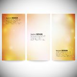 Set of vertical banners. Abstract multicolored Stock Photo