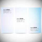 Set of vertical banners. Abstract multicolored Stock Photography