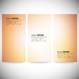 Set of vertical banners. Abstract multicolored Royalty Free Stock Images