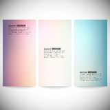 Set of vertical banners. Abstract multicolored Royalty Free Stock Photo