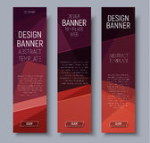 Set vertical banners with brown polygonal background Royalty Free Stock Photo