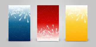 Set of 240 x 400 vertical banners. With fireworks Stock Photography