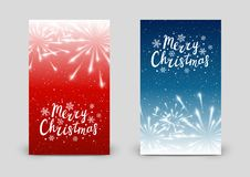 Set of 240 x 400 vertical banners with fireworks. Set of 240 x 400 vertical banners with Christmas fireworks Stock Photography