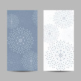 Set of vertical banners. Geometric pattern with connected lines and dots. Vector illustration Royalty Free Stock Images