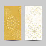 Set of vertical banners. Geometric pattern with connected lines and dots. Vector illustration Stock Photo