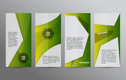 Free Set Vertical Banners Green Background03 Stock Images - 111254854