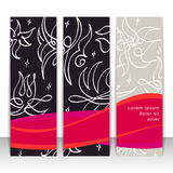 Set of vertical banners, headers. Editable design template Royalty Free Stock Photo