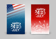 Set of 240 x 400 vertical banners. For Independence day Royalty Free Stock Image