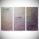 Set of vertical banners. Microchip backgrounds, Stock Photography