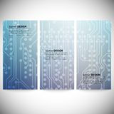 Set of vertical banners. Microchip backgrounds, Stock Photos
