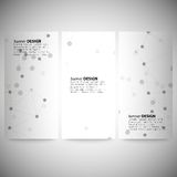 Set of vertical banners. Molecule structure, gray Royalty Free Stock Photo
