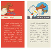 Set of vertical banners. Pet care. Vet clinic. Flat design. Stock Photography