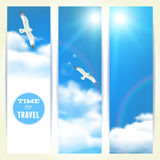 Set of Vertical Banners with Seagulls. Royalty Free Stock Photos