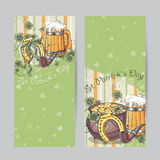 Set of vertical banners for St. Patrick's Day Stock Photo