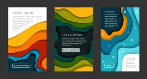 Set of vertical banners templates royalty free illustration