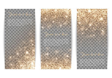 Set of vertical banners transparent background Royalty Free Stock Photo