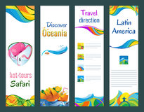 Set of vertical banners, vector illustration Royalty Free Stock Photo