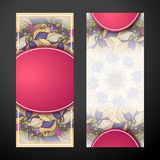 Set of Vertical Banners, Web Design Element Royalty Free Stock Photos