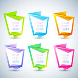 Set of vertical banners for your text . Vector Illustration Stock Images