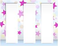 Set of vertical billboards. Stock Photos