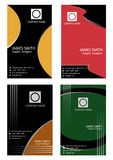 Set of vertical business card Royalty Free Stock Photos
