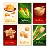 Cane Sugar Vertical Cards Royalty Free Stock Photos