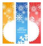 Set of vertical christmas banners Stock Images