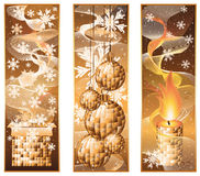 Set vertical christmas banners Royalty Free Stock Image