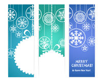 Set of vertical christmas vector banners Stock Images