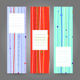 Set of Vertical Colorful Banners. Abstract Geometric ornament. V Royalty Free Stock Photography