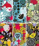 Set of vertical colorful cards. Royalty Free Stock Photography