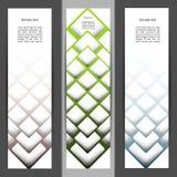 set vertical för baner Royaltyfri Fotografi
