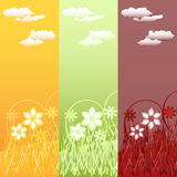 Set of vertical  floral banners Stock Photography