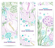 Set of vertical floral banners or backgrounds with Stock Images