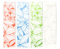 Set of vertical floral vector banners Royalty Free Stock Image