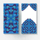 Set of vertical hand drawn floral banners Stock Image