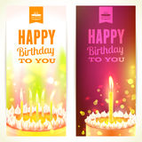 Set of Vertical 'Happy Birthday' Banners. Vector illustration. Stock Image